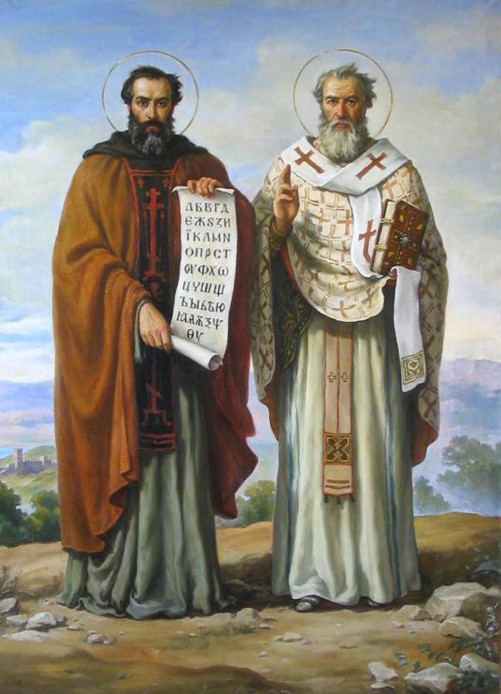 14 febbraio, santi Cirillo e Metodio