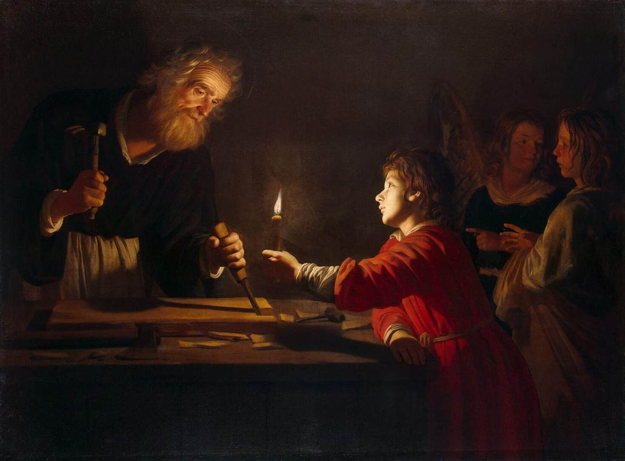 1 maggio, san Giuseppe falegname (Gerrit van Honthorst)