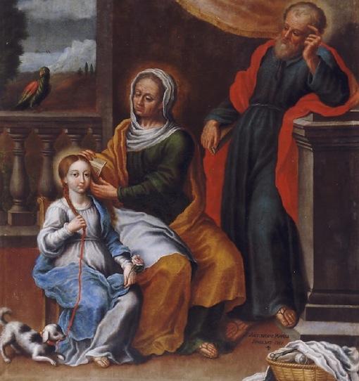 26 luglio, santi Gioacchino e Anna (A. Manoli)