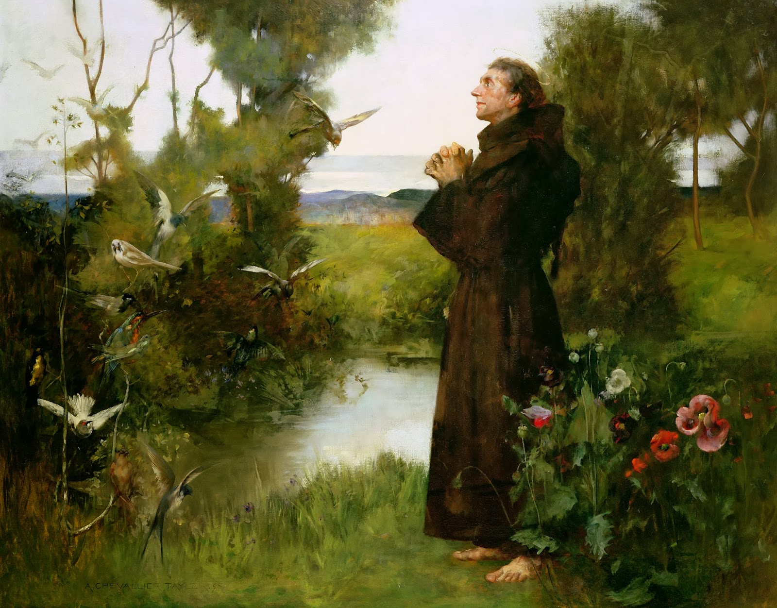 4 ottobre, san Francesco d'Assisi (Albert Chevallier Tayler)